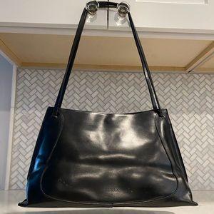 Vintage Furla Italian Leather Purse Bag Black